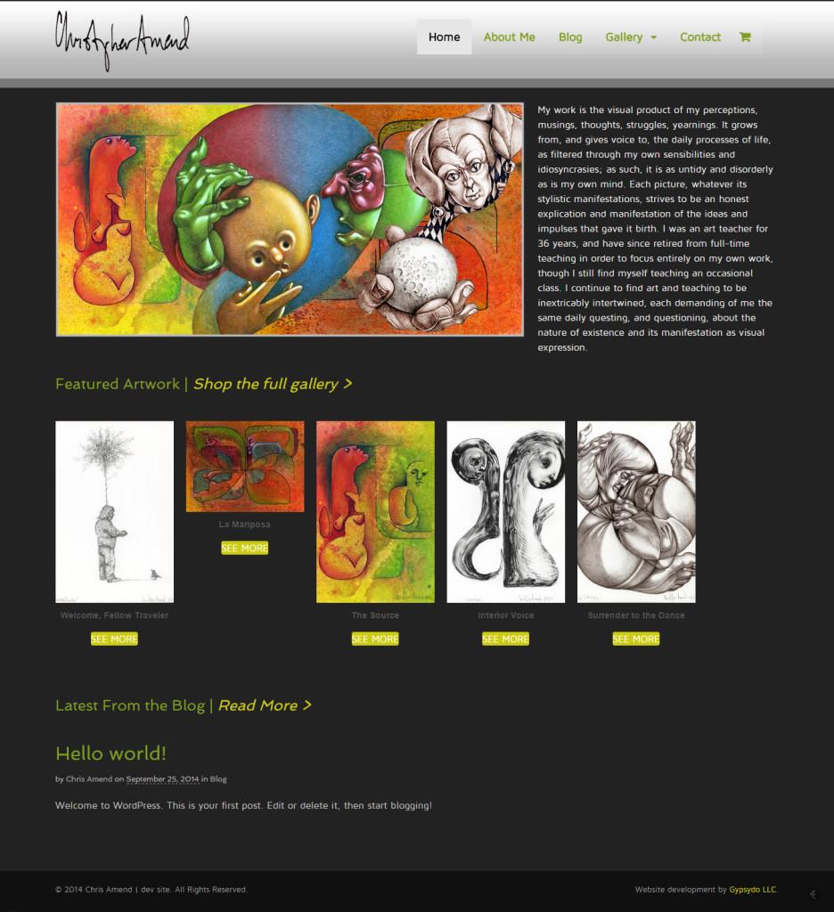Chris Amend homepage - beta