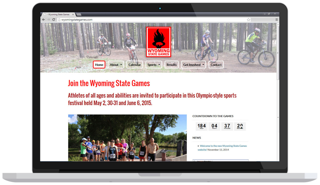 Wyoming State Games on laptop